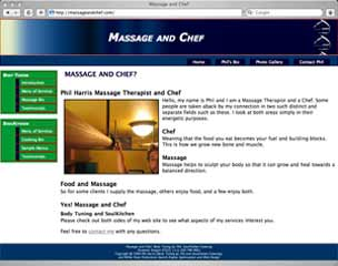 Phil Harris' Massage and Chef site